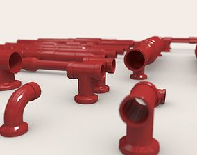 Pipes and Mounts Bash Kit 3D asset