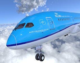 3D asset Boeing 787 Dreamliner high detailed model