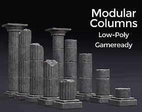 Modular Columns 3D asset