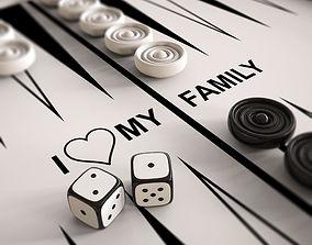 3D print model Chess And Backgammon