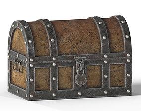 Old Treasure Chest 3D asset