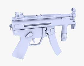 3D model MP5K Submachine Gun