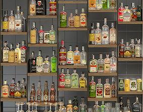 Large bar 6 Alcohol 3D