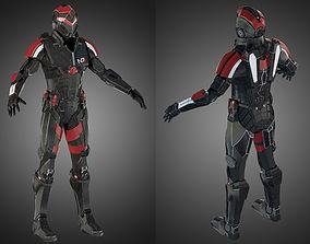 3D model Futuristic soldier Mass Effect