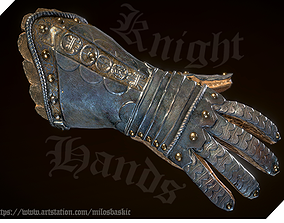 3D asset animated Medieval VR I FPS Knight Hands