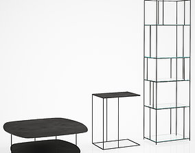 3D model La redoute AM PM Bookcase and tables