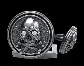 skull cufflinks 3D print model cufflinkskull