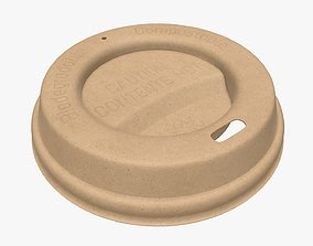 3D Biodegradable disposable paper coffee cup lid