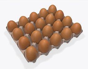 3D Egg cardboard base for 20 eggs