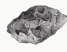 3D asset model Meteor Asteroid Rock 4K
