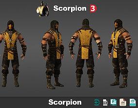 Scorpion Mortal Kombat 3d models low poly low-poly
