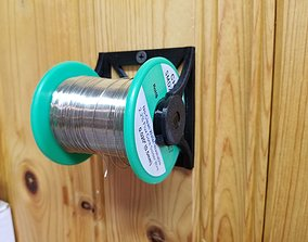 Spool Stand lockable double core CAN BE 3D print model 3