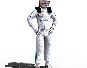 3D asset Lewis Hamilton 2018