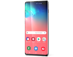 3D model mobile Samsung Galaxy S10 plus