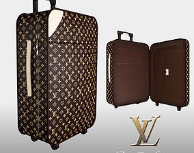 Louis Vuitton luggage bag 3D model