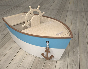 3D Child Boat Toy