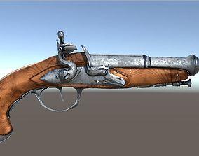 3D asset Flintlock Pistol