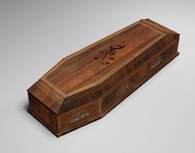 Classic Medieval Coffin 3D asset