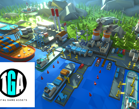 Unity Low Poly Dock 3D model