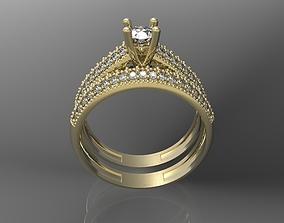 Engagement rings silver 3D printable model