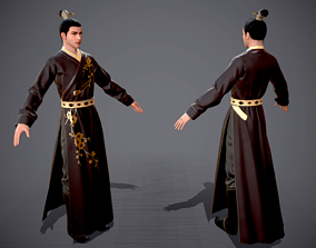 3D asset Ancient Chinese characters in Hanfu Clothes of 1