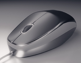 Logitech Computer Mouse USB 3D model rigged