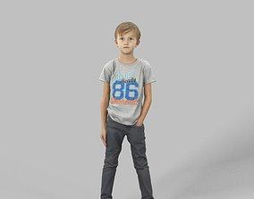 3D asset Simon Casual Boy Standing Listening