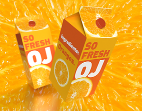 So Fresh 3D Orange Juice Carton with Professionally 1