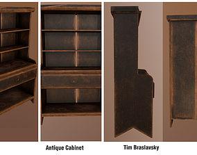 Antique Cabinet 3D asset VR / AR ready