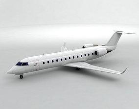 Bombardier CRJ 200 - Generic White 3D model