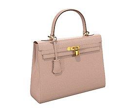 3D asset Hermes Kelly Bag Cream