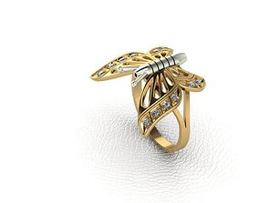 3D print model Ring Butterfly 2