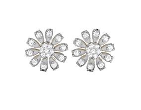 Women earrings 3dm render detail radiant jewelry