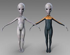 Grey Alien 3D asset