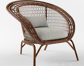 3D model Chair Rattan armchair