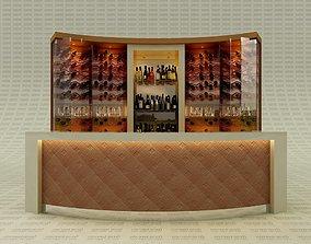 3D model Bar Counter Back Wine Cellar for interior