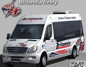Mercedes Sprinter Britannia Coaches minibus wide 3D model