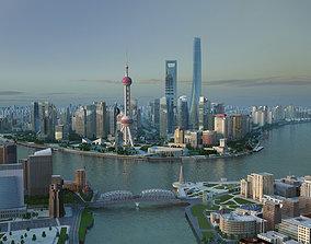 shanghai tower shanghai world financial 3D model