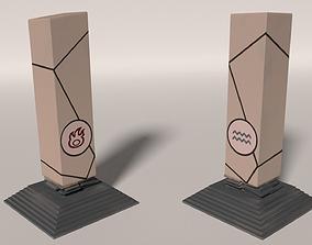 3D asset Fire-Water Pillar