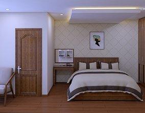 bedroom design lock 3D model animated