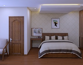 bedroom design lock 3D model animated