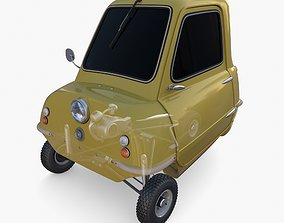 Generic 50cc Microcar with chassis 3D model