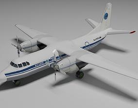 Antonov An-24 3D model animated