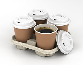 3D Coffee in Holder