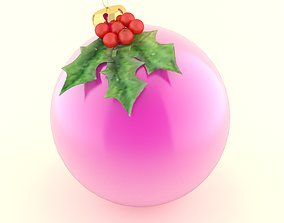 3D cane christmas ball