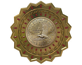 Digital Currency Coin - 600 BTC bank 3D