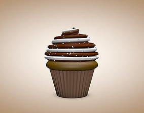 3D asset Animated Cupcake