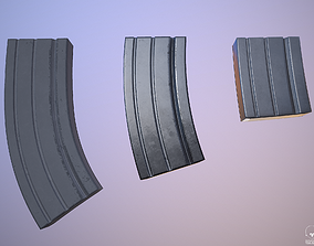 3D asset Ammunition Magazine - Clip - Weapon Attachment 1
