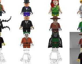 Brick Minifigures - Villains 3D model