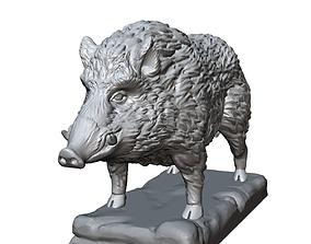 3D print model boar sculpture